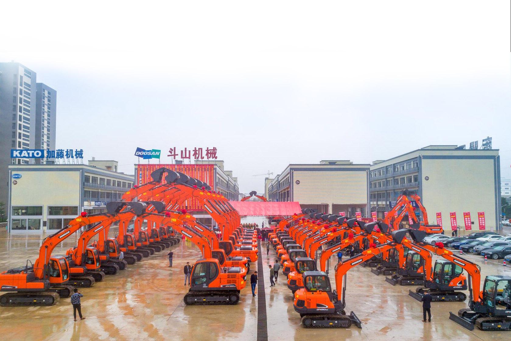 斗山挖机展示